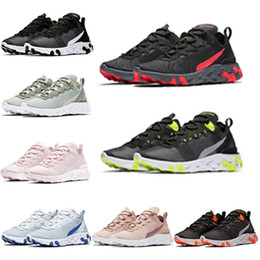 New online shopping - 2019 new quality React Element Undercover X Upcoming designer sports men women Navy blue Sneakers shoes