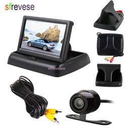 "$enCountryForm.capitalKeyWord Australia - 4.3"" LCD Foldable Monitor Car Vehicle Rear View Kit + Waterproof Mini Car Reversing Parking Backup Camera System 170 Degree"