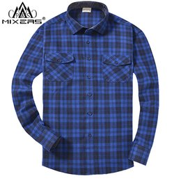 87b6e1295cd 2018 Autumn Winter Fashion Flannel Shirts Men Long Sleeve Two Chest Pockets  Slim Fit 100% Cotton Plaid Casual Flannel Shirt Men