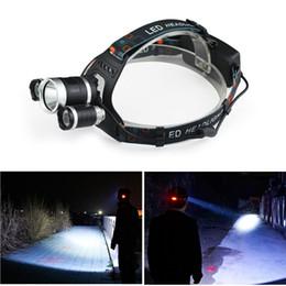 Ingrosso buon prezzo 6000 lumen 3T6 faro esterno luce testa lampada HeadLight ricaricabile per 2x 18650 pesca a batteria campeggio