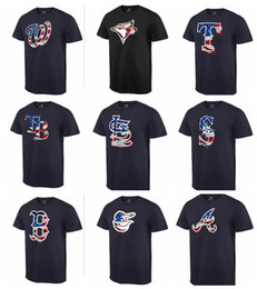 Cardinal Cotton Australia - TOP Quality 2019 Cotton Men Cardinals Rays Rangers Blue Jays Nationals Navy Banner Wave T Shirt