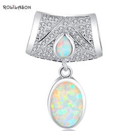 $enCountryForm.capitalKeyWord Australia - f pendant Party CZ White Fire Opal Silver Stamped 925 Necklace Pendants for women Fashion jewelry OP570