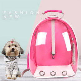 $enCountryForm.capitalKeyWord Australia - Dog Space Capsule Carrier Bag Transparent Pet Bag Backpack Portable Cat Carrier Bag Outdoor Travel Puppy Small Animal House SH190628