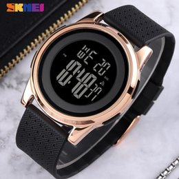 white mens digital watches Australia - SKMEI Sport Simple Watch Men Thin Waterproof Digital Wristwatches Mens Soft PU Strap Chrono Male Watches Alarm montre homme 1502