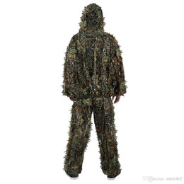 7860b8dfb9c43 3d Hunting Suits Australia - Outdoor Hunting 3D Leafy Hunting Woodland  Camouflage Jungle Bionic Camouflage Clothing