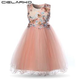 $enCountryForm.capitalKeyWord UK - Cielarko Girls Dress Butterfly Kids Flower Dresses Birthday Tulle Children Wedding Party Frocks Formal Baby Ball Gown For Girl J190713