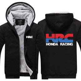 $enCountryForm.capitalKeyWord Australia - Men HRC race motorcycle modified Sweatshirts Winter Cashmere Hoodie Zipper Jacket Leisure Sweatshirts Thicken Cardigan Coat USA EU Size