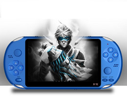 Free dhl video game online shopping - X12 Handheld Game Player GB Memory Portable Video Game Consoles with quot Color Screen Support TF Card gb MP3 MP4 Player Free DHL