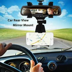 $enCountryForm.capitalKeyWord Australia - Universal Car Rear View Mirror GPS Holder Mount Cell Phone GPS Stand Cradle Bracket Support Truck for Iphone 7 Samsung S8