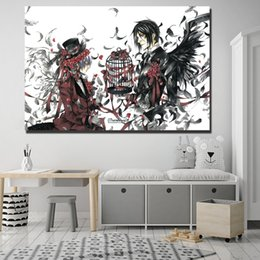 $enCountryForm.capitalKeyWord Australia - Black Butler Anime Comics Paintings on Canvas Modern Art Decorative Wall Pictures For Living Room Home Decoration