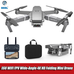 GPS Drone 4K camera RC foldable Drones HD Adjustment 50x zoom Camera Wide Angle E68 WIFI FPV RC Quadcopter Gift for adults 1080p on Sale