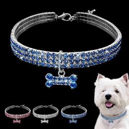 $enCountryForm.capitalKeyWord Australia - New Rhinestone Collar for Dog Bone-shaped Pendant Perfect for Show and Daily Walking Fashion Pet Dogs Collar