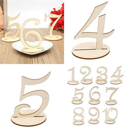 Light figure online shopping - 10pcs set Fashion Wooden Wedding Party Supplies Place Holder Table Number Figure Card Digital Seat Decoration