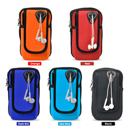 flip smartphone NZ - Universal Sport Armband Running Flip Bag Case for Smartphone Mobile Phone Earphone Holes Keys Arm Bags Pouch