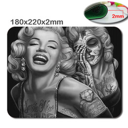 Discount sugar girls - Special Designed for Rectangle Computer Game Mouse Pad Mat With Retro Sugar Skull Girl Image Cloth Cover Non-slip size18