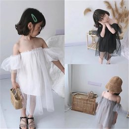 Baby Dresses Cotton For Wedding Australia - Stylish INS Designer Summer Girls Princess Dress Vestidos Kids Party Birthday Wedding Dresses For Girl Children Baby Toddler Clothes