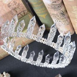 $enCountryForm.capitalKeyWord Australia - Royal Wedding Crystal Crown For Women Resin Quartz Crystal Mermaid Tiara Bridal Crystal Wedding Hair Accessories Free Shipping C18112001