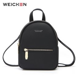 touch designer 2019 - WEICHEN New Designer Fashion Women Backpack Mini Soft Touch Multi-Function Small Backpack Female Ladies Shoulder Bag Gir