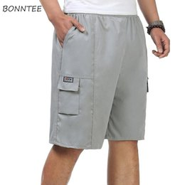 shorts men styles Australia - Casual Shorts Men Pockets Leisure Daily Korean Style Solid Simple Summer Cargo Short Mens Large Size Soft High Quality Trendy