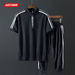 Summer Sportswear Suit Australia - 2019 Mens Set Short tracksuit Sportswear Mens Clothing Summer Short Set Fasion Zipper Sportsear Suit Brand 2 Piece