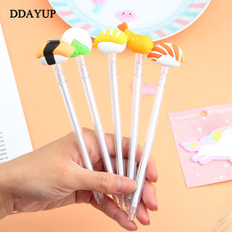 School Stationery For Kids Australia - 2Pcs Cute Sushi Gel Pens Kawaii Japanese Pens for Kids Girls Gifts School Writing Supplies Stationery