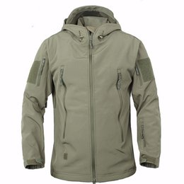 $enCountryForm.capitalKeyWord Australia - Stealth Shark Skin Outdoor Jacket Men Sport Softshell Waterpoof Hunting Clothes Tactical Camouflage Army Hoodie Jacket