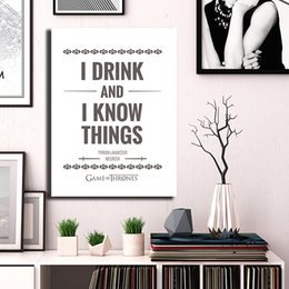 $enCountryForm.capitalKeyWord Australia - Black And White GoT 2019 Season 8 Canvas Painting Wall Picture Poster And Print Decorative Home Decor