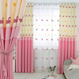 modern cartoon princess NZ - New Simple Modern Princess Wind Cartoon Curtains for Living Dining Room Bedroom.