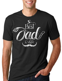Best Cotton For T Shirts Australia - Gift For Father The Best Dad Ever T-Shirt Tee Shirt Tees Shirt Men Man's Summer Short Sleeve Crewneck Cotton Big Size Couple Ca
