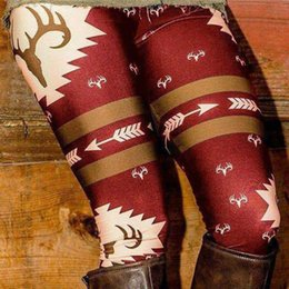 Fitness Christmas Gifts Australia - New Year Best Gift Christmas Deer Printed Stretchy Pants Leggings Exercise Clothes for Women Moda Fitness Feminino
