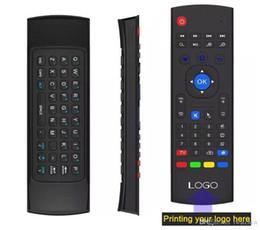 $enCountryForm.capitalKeyWord Australia - 10pcs Custom Made MX3 X8 T2 No Microphone Mini 2.4GHz Wireless Gyroscope Keyboard Air Mouse Remote G-Sensor Gyroscope For Android TV BOX