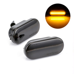 $enCountryForm.capitalKeyWord Australia - Led Side Marker Turn Signal Light Transparent Black Shell Signal Light For Volkswagen VW Bora Golf 3 4 Passat 3BG Polo SB6