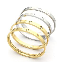 Luxury men gift online shopping - luxury designer jewelry women bracelets Stainless Steel screw men Love bracelets bangles for women men buckle bracelets gifts with bag