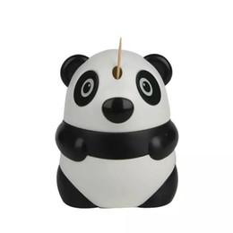 Toothpick Designs UK - Automatic Toothpick Holder Cartoon Panda Design Cute Toothpick Dispenser Restaurant Table Decoration Wholesale Free Shipping