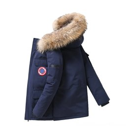mens duck down parkas NZ - Winter Men White Duck Down Parkas Jacket Mens Thick Warm Men's Outerwear & Coats Men's Clothing Snow Parka Jacket Overcoat Windbreaker Hoode