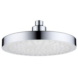 $enCountryForm.capitalKeyWord UK - 8 Inch Round Stainless Steel Bathroom RGB LED Lamp Shower Head Temperature Sensor Rainfall Shower Head With Color Changing Wat