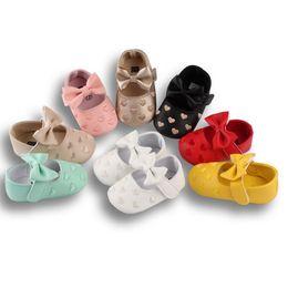 Infant Prewalkers Australia - DHL 50pair Infant Booties Prewalkers Soft Sole Anti-Slip Baby Booties Girl Toddler Moccasins First Walkers 0-18 Months