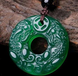 $enCountryForm.capitalKeyWord Australia - Natural Clear Fine Carved Cute Lucky jade agate Chalcedony Pendant free Necklace Fashion Jewelry for woman and man