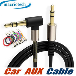audio jack angle Australia - 3.5mm AUX Audio Cable 90 Degree Right Angle Jack Car Stereo Extension Retractable Male for iphone 7 8 x Samsung Speaker Computer