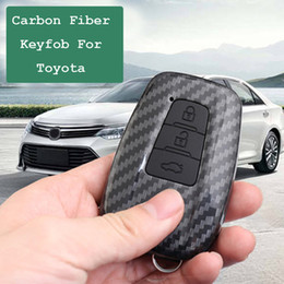 cases for toyota camry keys Australia - Carbon fiber Silicone Key Case For Toyota CHR Camry Prius Prado 2016 - 2018 Aygo RAV4 Corolla 2018 Remote Fob Cover 2 3 Button