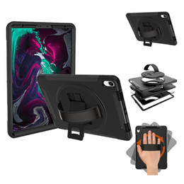 $enCountryForm.capitalKeyWord Australia - For iPad Pro11 2018 ipad 12.9 2018 Hybrid 3 in 1 Tablet Case Kickstand Cover 360 Degree Rotating Flip PC Stand Hand Straps Retail Packaging