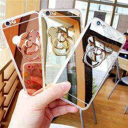 Phone Holder Lg G4 Australia - New Fashion For Lg G3 G4 G5 G6 V10 V20 Diy Ring Brackets Cute Bear Holder Stand Buckle Mirror Soft Tpu Phone Cases