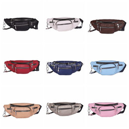 travel pillow free shipping NZ - Newest Style Men Women PU Waist Bags Chain Black Solid Fanny Pack Travel Belt Purse Shoulder Bags Tote Waist Bag 10Color Free Shipping