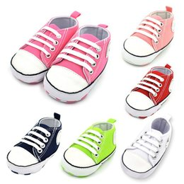 Boy star logo online shopping - Newborn Toddler Baby Boys Girls Star Logo Canvas Shoes Lace Up Soft Sole Sneakers First Walkers M