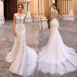 53529646efa Simple pluS Size winter wedding dreSSeS online shopping - 2019 Gorgeous  Mermaid Lace Wedding Dresses Sheer