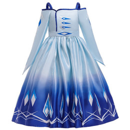 netted line evening gowns UK - 2020 long sleeve Cartoon princess skirt girls evening dress color matching pettiskirt flower girl net gown dress costume satin flowers dress