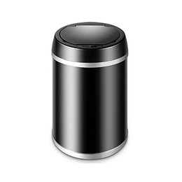 Steel Induction Canada - Automatic trash can contactless smart sensor trash can with inner barrel non-contact circulator quiet cover close creative living room bedro
