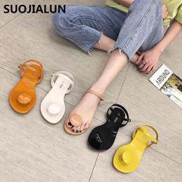 Korean canvas men shoes online shopping - Women Slippers Summer Flip Flops Thong Shoes Flat Sandals Slides Korean Style Candy Colors Casual Outside Women Beach Slippers