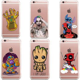 avengers iphone 5s case NZ - Phone Case Avengers Infinity War Thanos DC Comics Superhero Joker Deadpool Soft Cover for iPhone X 6 6S 7 8 Plus 5S SE XS MAX XR