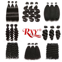 $enCountryForm.capitalKeyWord Australia - Rxy Human Hair 3 Bundles Straight Body Wave Kinky Curly Deep Wave Loose Wave Loose Deep Kinky Straight Curly Hair Brazilian Hair Bundles